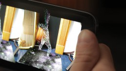 Zubr volumetric video particle augmented dance piece