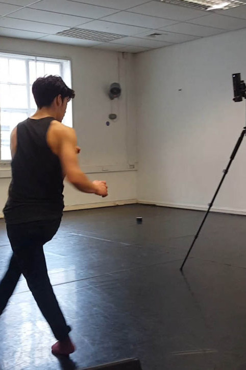 Zubr dance piece being captured into volumetric video
