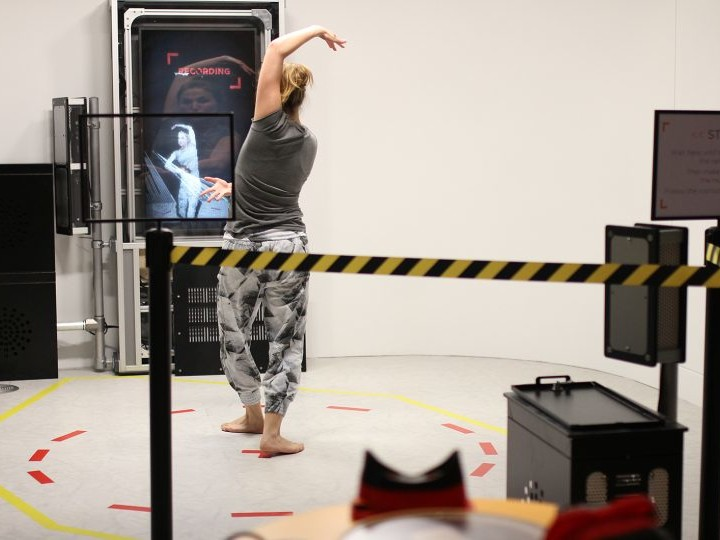 Zubr VR Lab virtual dance capture at We The Curious science centre in Bristol