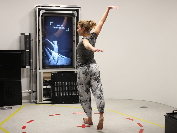 Kinect volumetric video capture in Zubr We The Curious VR Lab