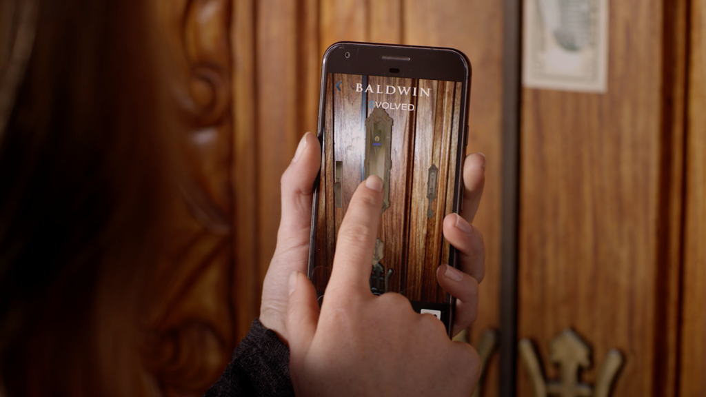 Zubr Augmented Reality consumer product App for Baldwin Hardware