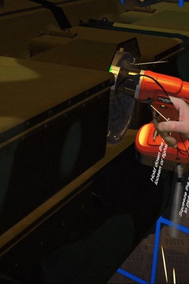 Zubr Mixed Reality capture of Virtual Reality engineer training demo for Ministry of Defence
