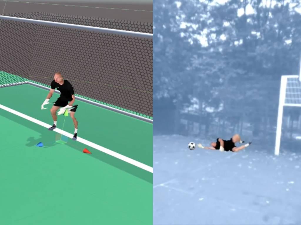 Zubr volumetric video mixed reality football training penalty