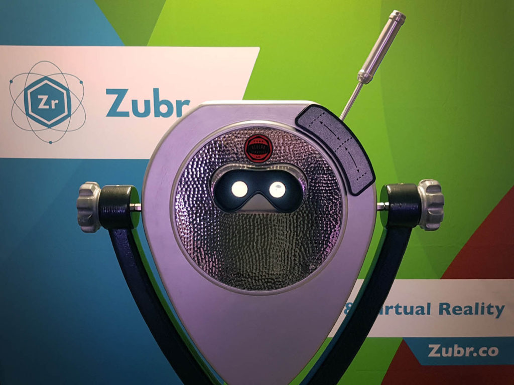Zubr augmented reality binoculars with time travel lever
