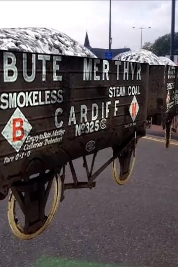 Zubr Calvium Porth Teigr Cardiff Bay Augmented Reality historic coal wagons