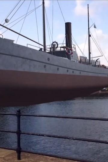 Zubr Calvium Porth Teigr Cardiff Bay Augmented Reality past and future binoculars