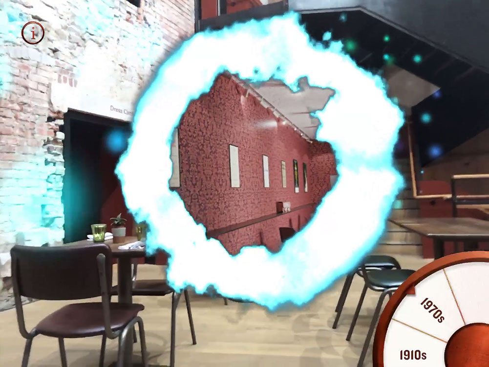 Augmented reality portal for Museum time travel app
