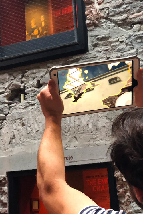 Bristol Old Vic augmented reality app for cultural heritage historical views on iPad