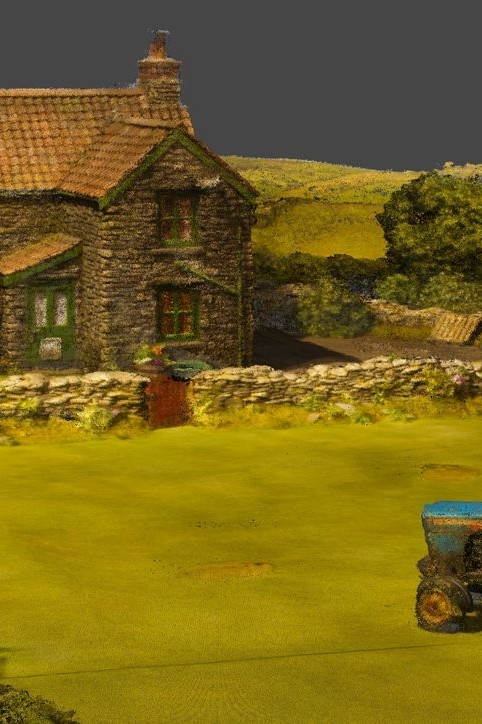 Photogrammetry 3D scan of Aardman Shaun the Sheep farm set by Zubr