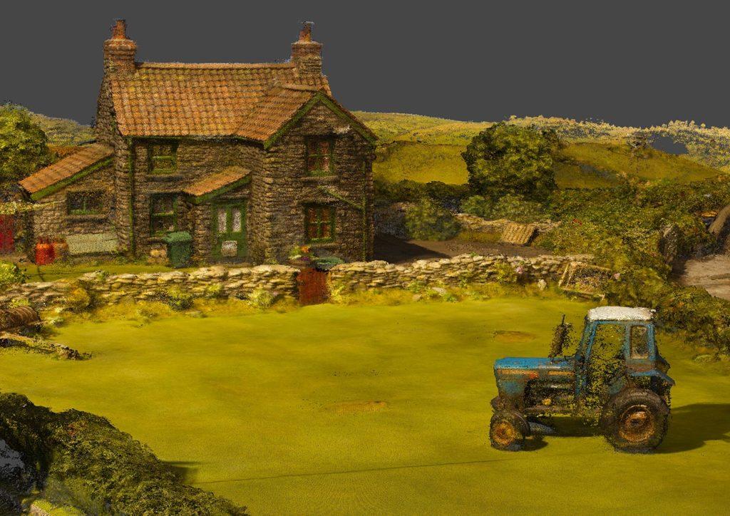 Photogrammetry 3D scan of Aardman Shaun the Sheep farm set by Zubr
