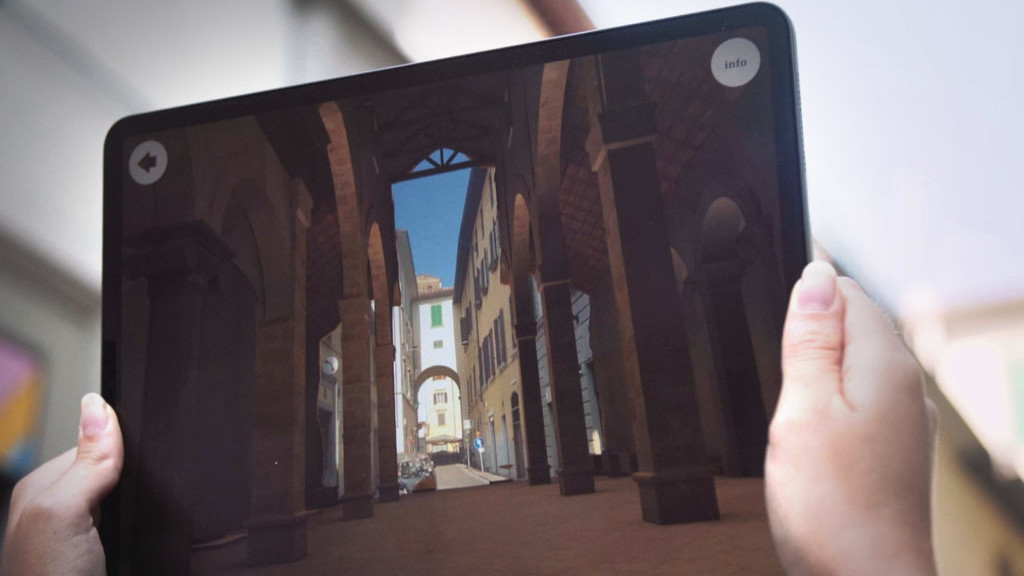 Zubr augmented reality 3D reconstruction national gallery augmented reality app