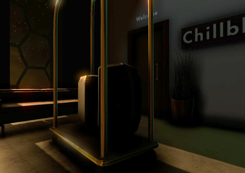 Zubr virtual reality future hotel marketing experience for Sleep and Eat exhibition