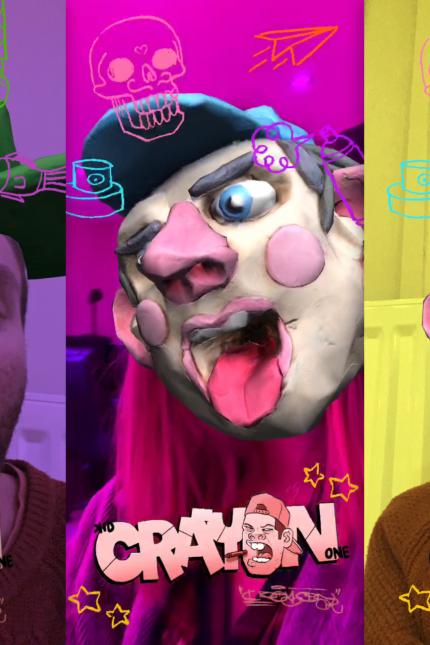 Zubr augmented reality 3D street art face filter