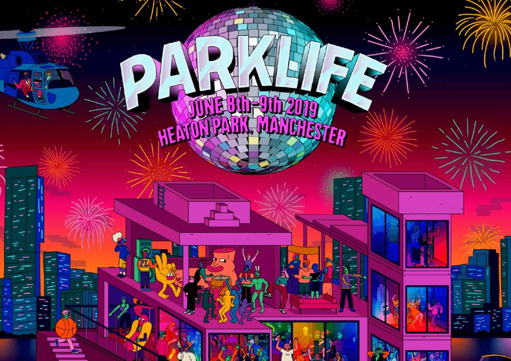 Parklife festival augmented reality flyer by Zubr