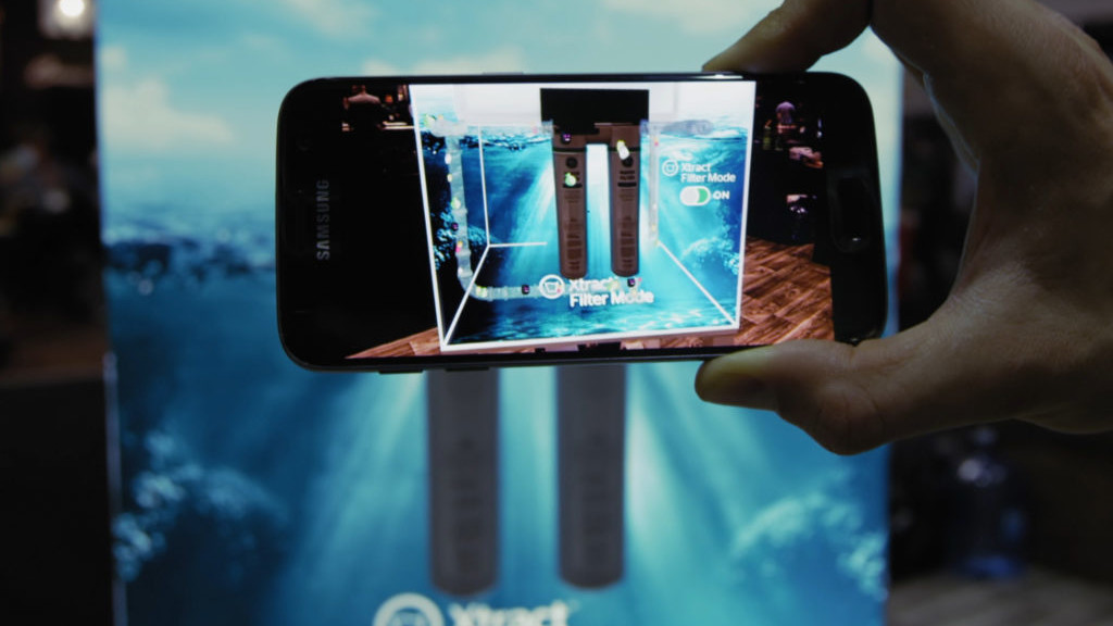 Augmented reality plumbing filter product showcase