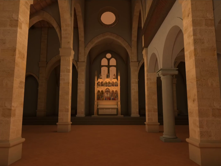Zubr 3D reconstruction of Florentine church in virtual reality