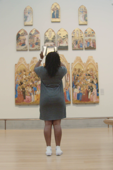 Hidden Florence augmented reality app at the National Gallery in London