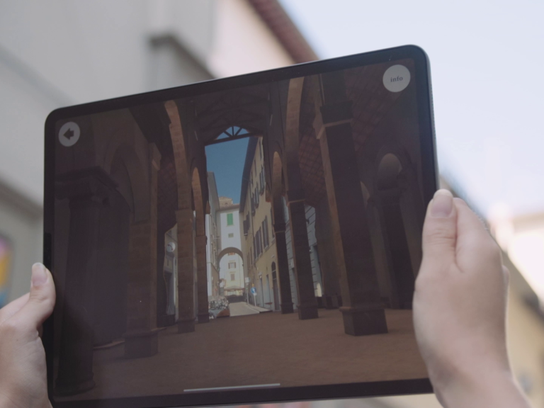 Hidden Florence 3D AR app on iPad