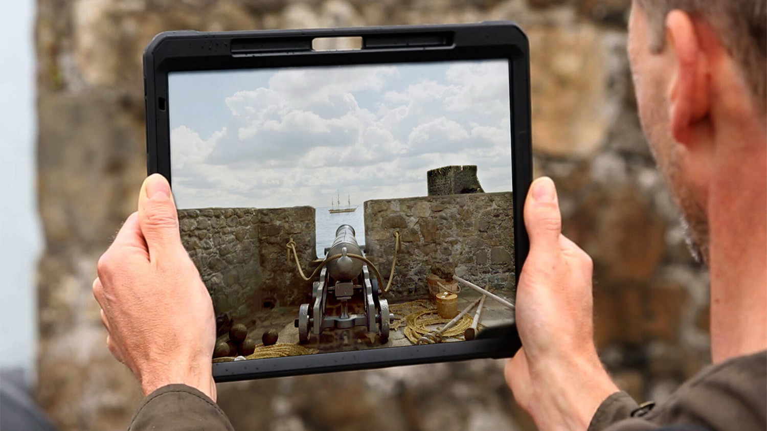 Augmented reality castle app in Northern Ireland