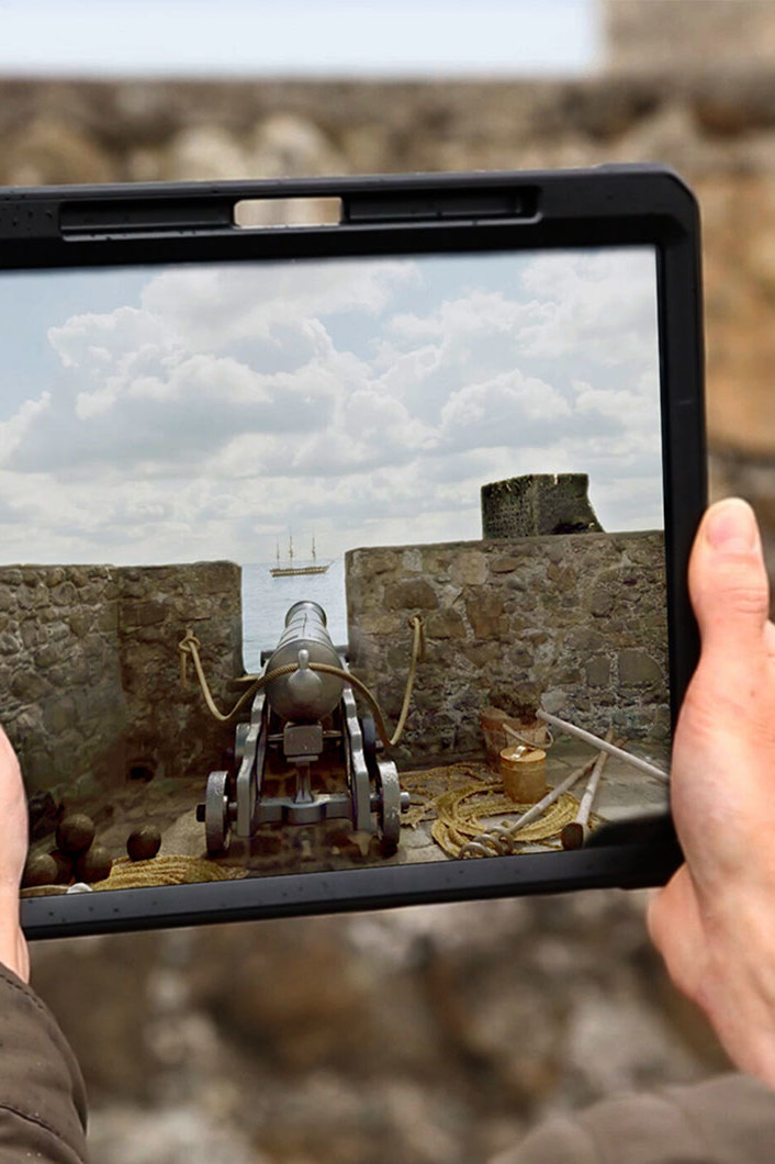 Augmented reality cannon fire app for cultural heritage and tourism